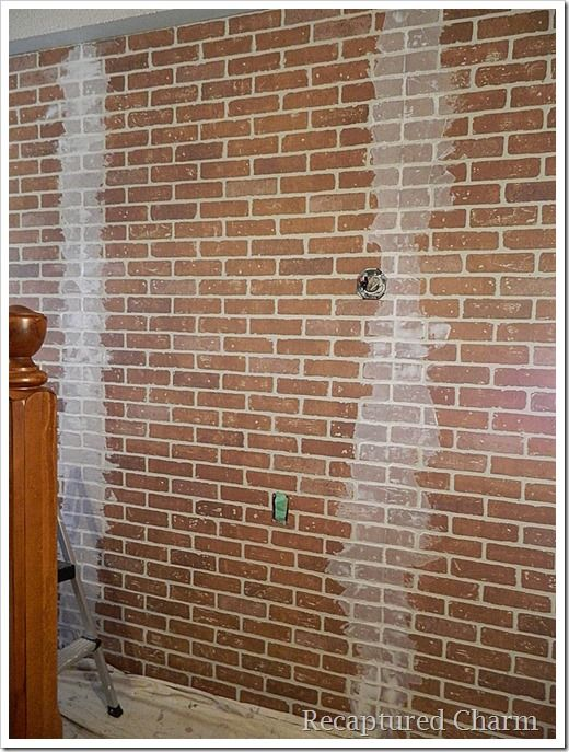 Covering The Seams Drywall Compound Faux Brick Wall