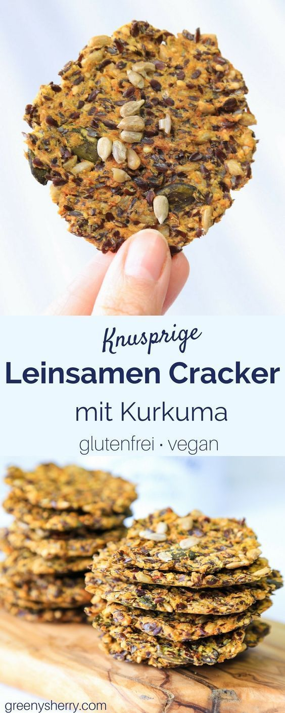 Gluten-free linseed crackers   - snacks -