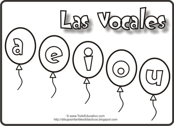 Dibujos De Las Vocales Para Colorear Imagui Toddler Learning Math School Classroom