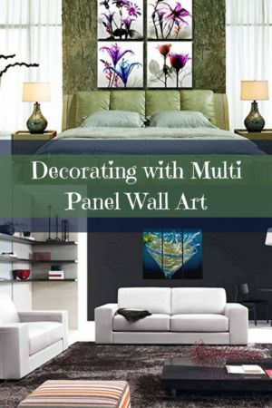 Multi-panel wall art is super popular right now.  It is trendy because you can easily decorate with it.  This is great for a large open space such as one in a living room or kitchen.  Multi Panel Wall Art - Multipanel home wall art decor