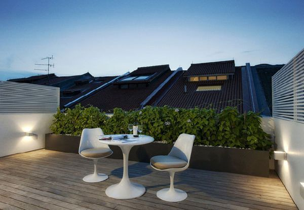 Coffe Table In Roof Terrace Design In House Singapore Style Roof Terrace Design Terrace Design House Design