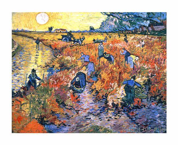 Vincent van Gogh - Der rote Weinberg