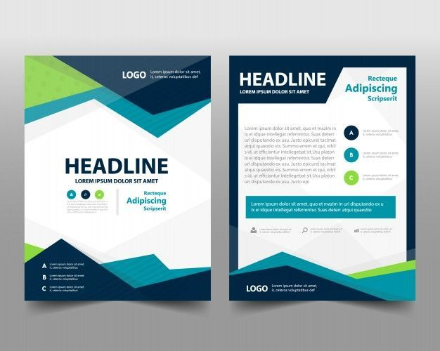 Business brochure template with space for text Free Vector 2018