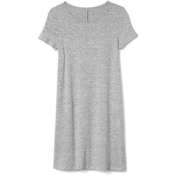 Gap Women Softspun Short Sleeve T Shirt Dress ($45) ❤ liked on ...