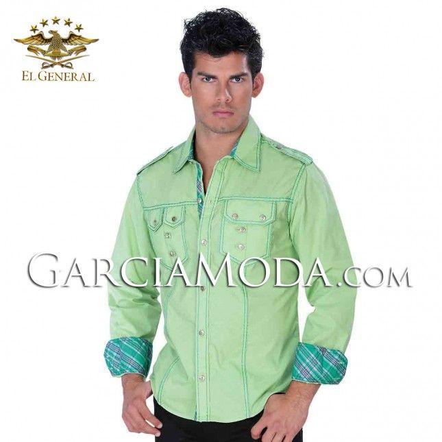7f2dce1d73 Camisa Vaquera El General Western Wear 30949GM Verde Más