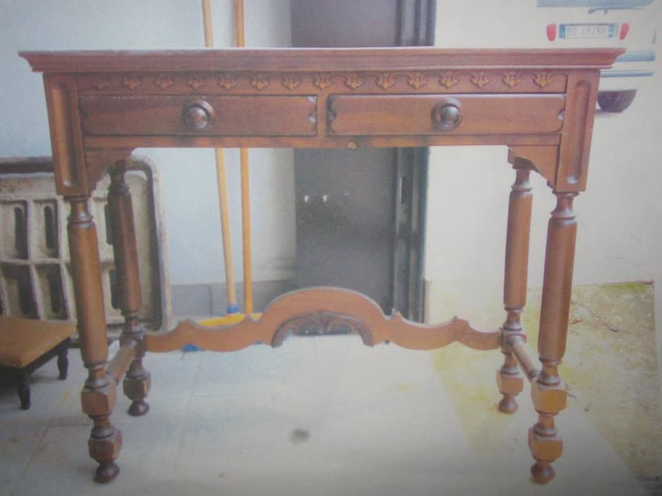 Recupero mobili ~ Vecchio scrittoio in legno ripristino e recupero mobili