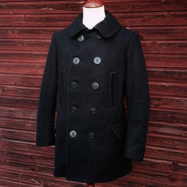 Freewheelers US Navy Overcoat. (made in japan, melton wool, p-coat, usn, pea coat)