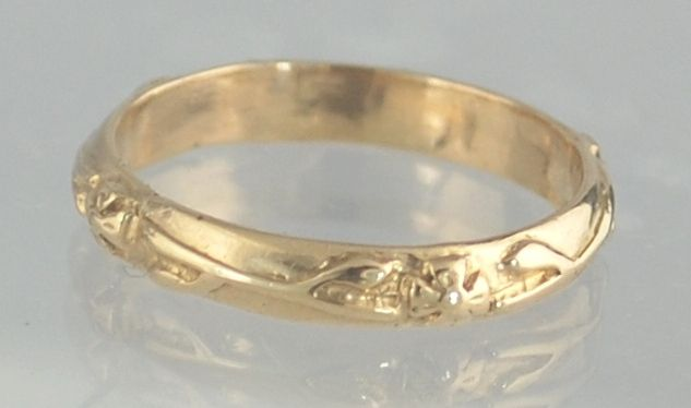 14k Pink Gold Wedding Band