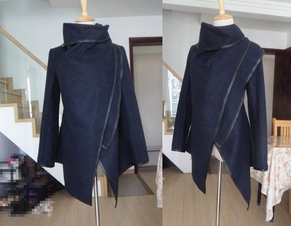 Hey, I found this really awesome Etsy listing at https://www.etsy.com/listing/177391611/blue-gray-wool-coat-winter-spring-autumn