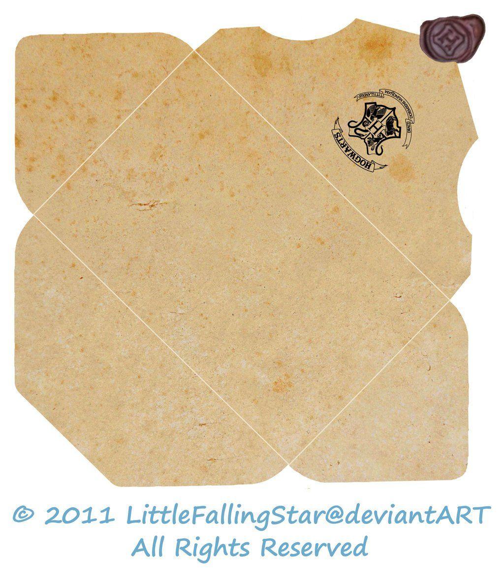 Harry Potter Decor. Hogwarts acceptance letter envelope in
