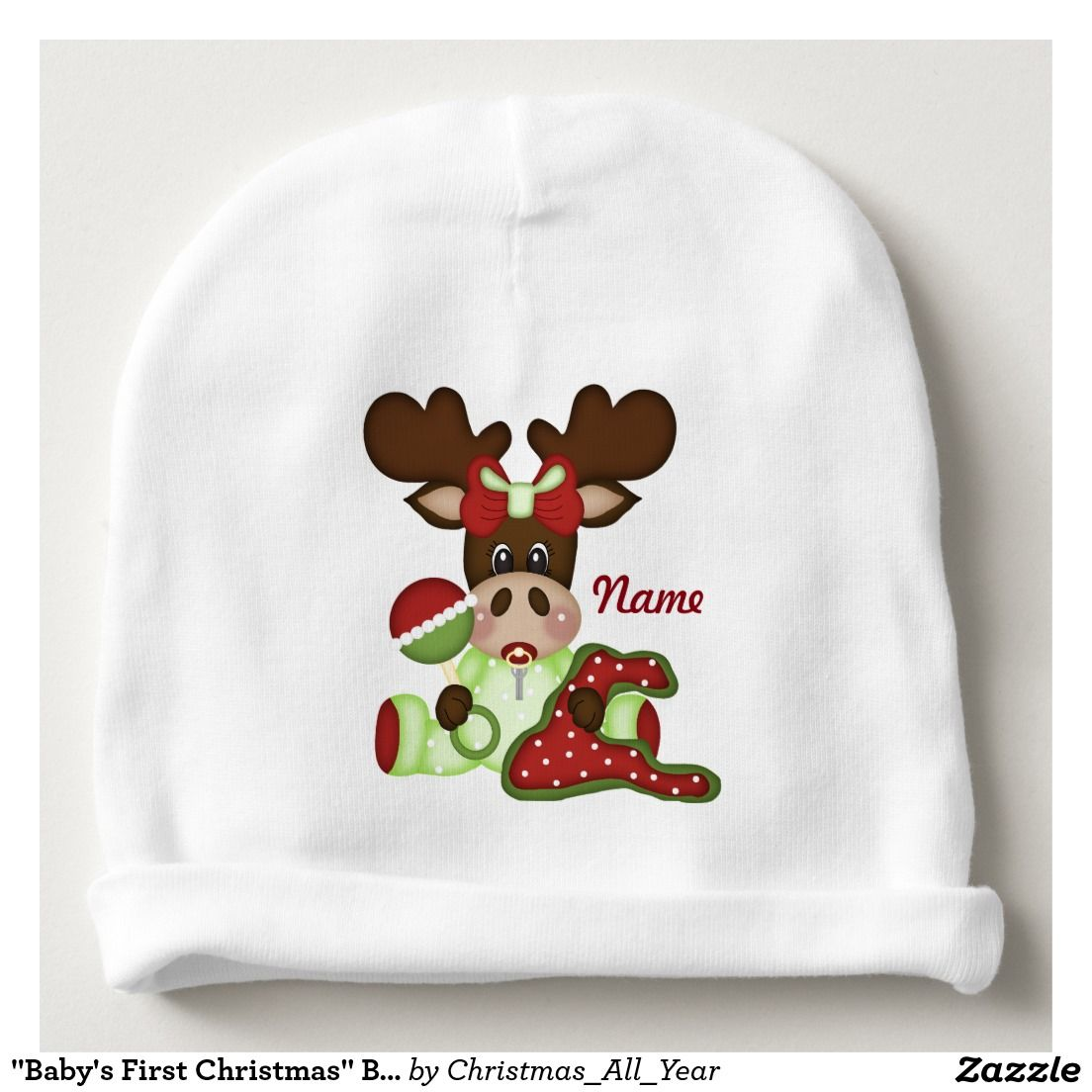 Baby S First Christmas Baby Hat Baby Beanie