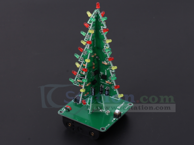 499 diy kit 3d christmas tree kit with rgb flashing lights for soldering practice