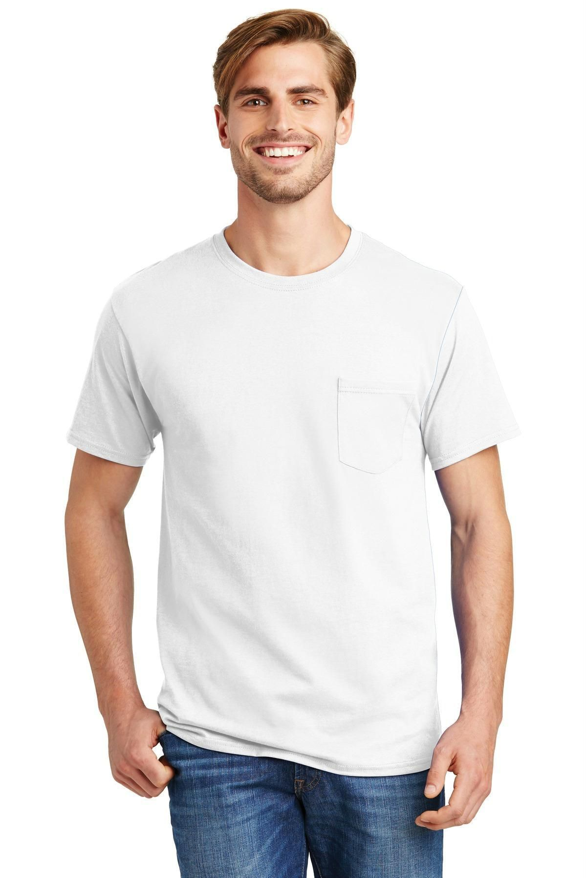 c2642516 Hanes - Tagless 100% Cotton T-Shirt with Pocket 5590   Products ...