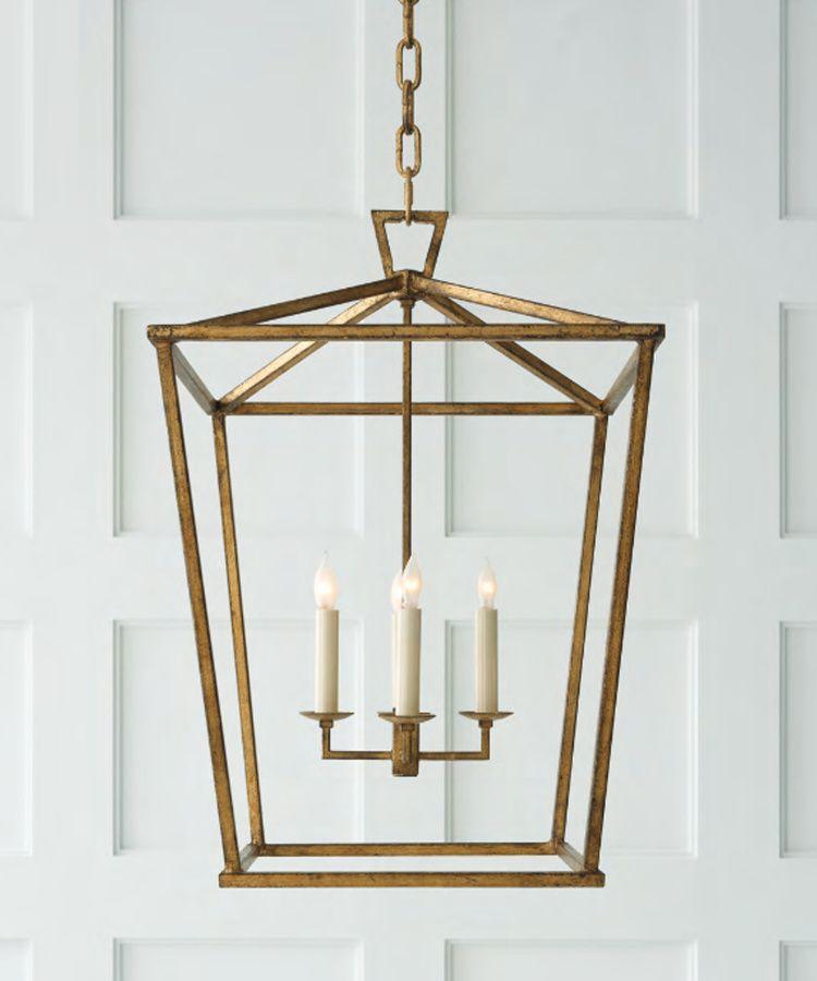 Medium Darlana Lantern, Gilded Gold
