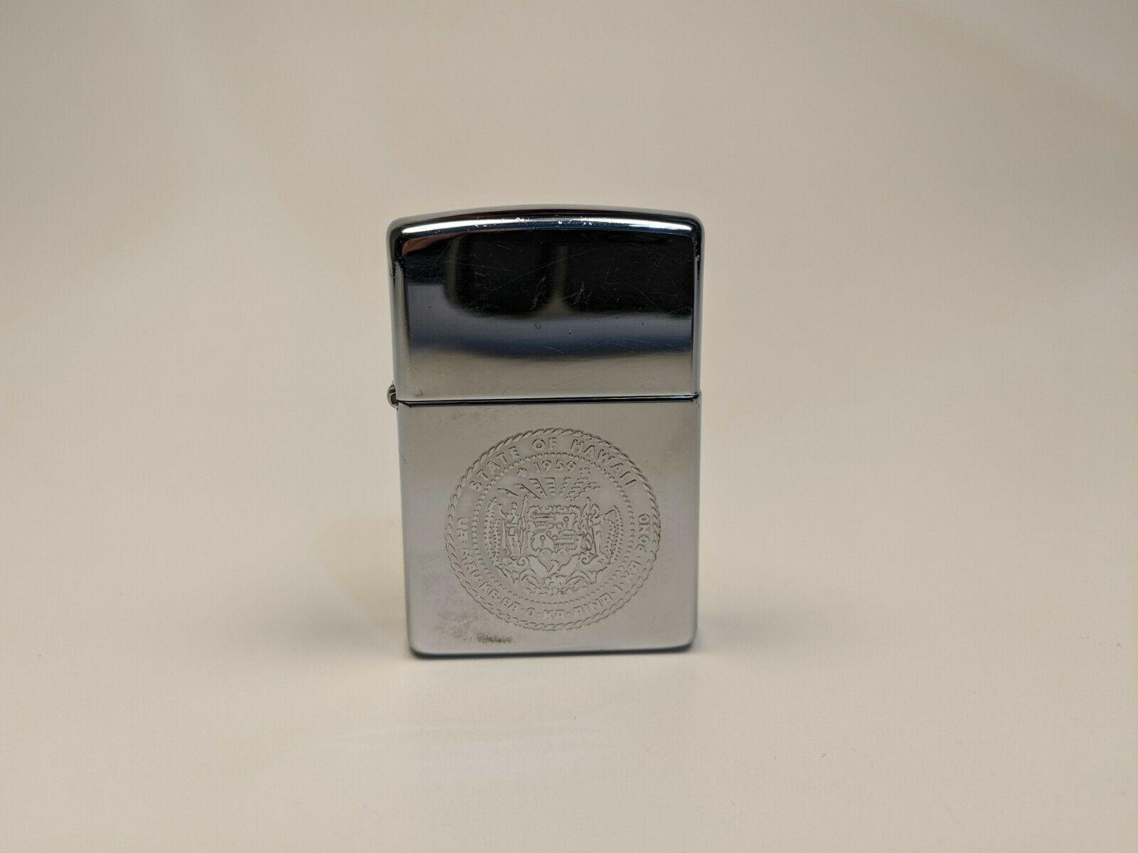 Zippo Lighter Hawaii State Seal Rare Vintage 1995 Bradford Pa Chrome Buy Hawaii Ebay In 2020 Zippo Lighter Zippo Chrome