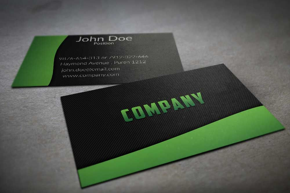 Textured Black And Green Business Card Template Cool Business Cards Black Business Card Free Business Card Templates