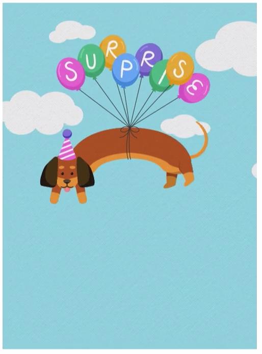 Surprise Pup Animated Evite Invitation