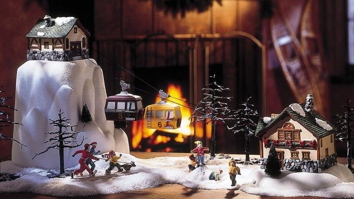 choosing a ski lift or cable car for your christmas village