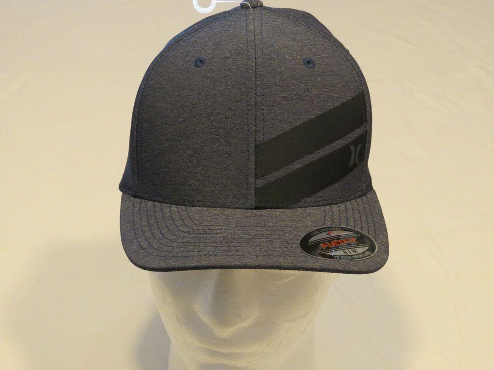 cf297f9e1 Hurley Cap Hat Flexfit S/M Men's adult NEW navy blue surf skate ...