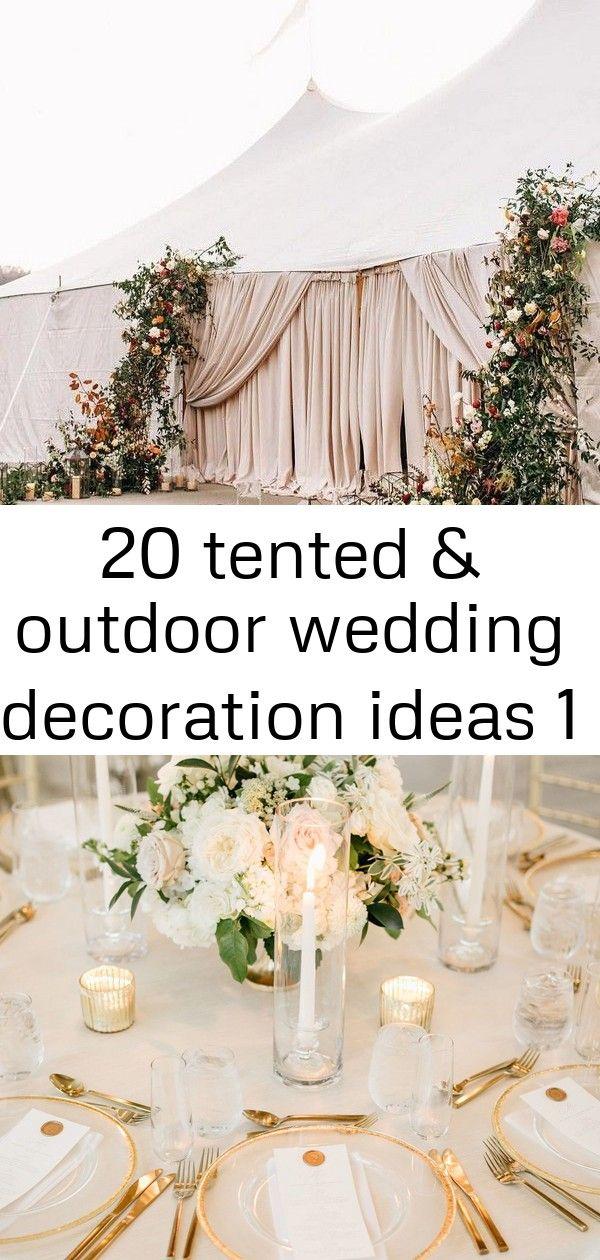 20 tented & outdoor bruiloft decoratie ideeën 1