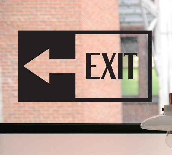 Exit Decal, Exit Sign, Door Decal, Please Use Other Door Sign, Please