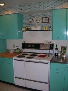 1963 Geneva Steel Kitchen Cabinets In Aquamarine Steel Kitchen Cabinets Kitchen Vintage Kitchen