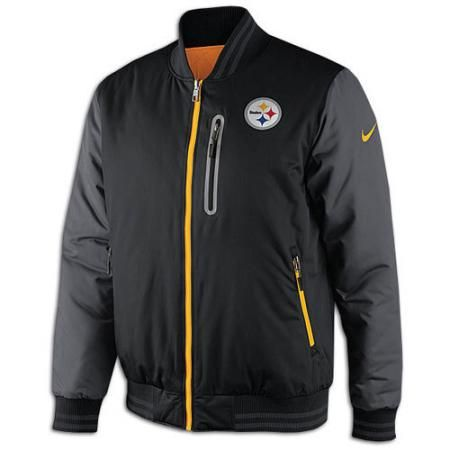 more photos b7481 a801f Steelers Nike NFL Sideline Reversible Destroyer Jacket ...
