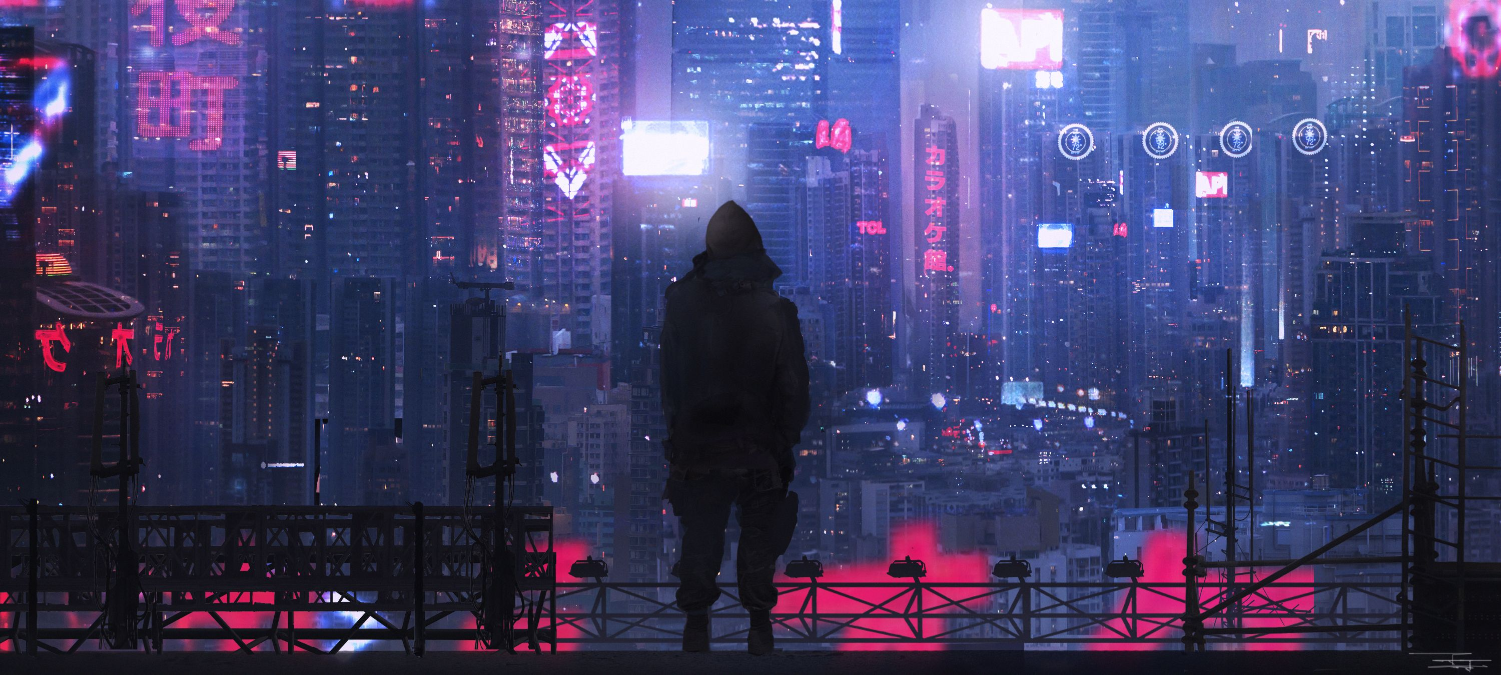Cheng Yu City Futuristic Digital Art Dystopic Neo Tokyo Futuristic City Science Fiction Dark Nig Futuristic City Fantasy City Cyberpunk City