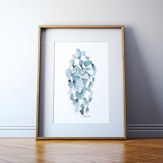 Tarsal Bones Watercolor Print Podiatry Art Abstract Anatomy Art