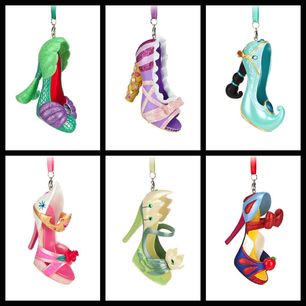 Shoe ornament clips - Disney Princess Pumps Shoes Princess Shoe Ornaments Photos From Disney Store Website
