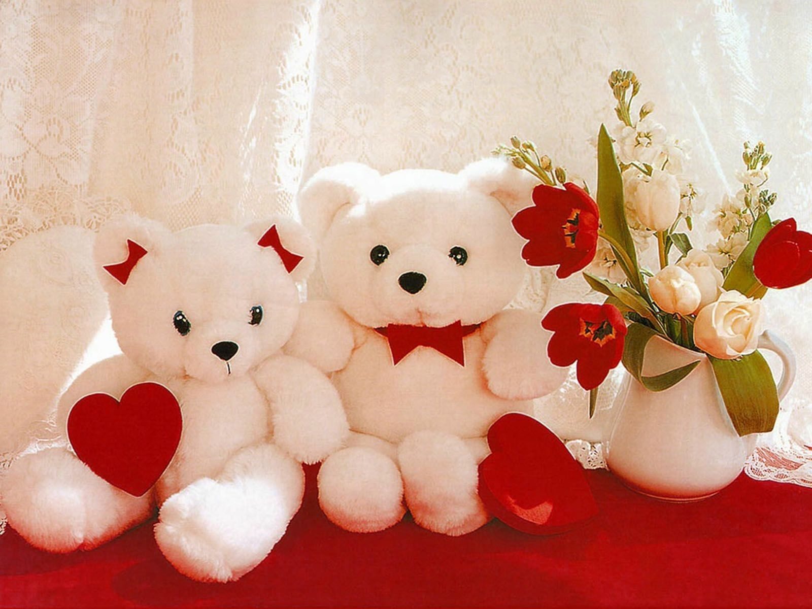 Image result for flower and teddy bear