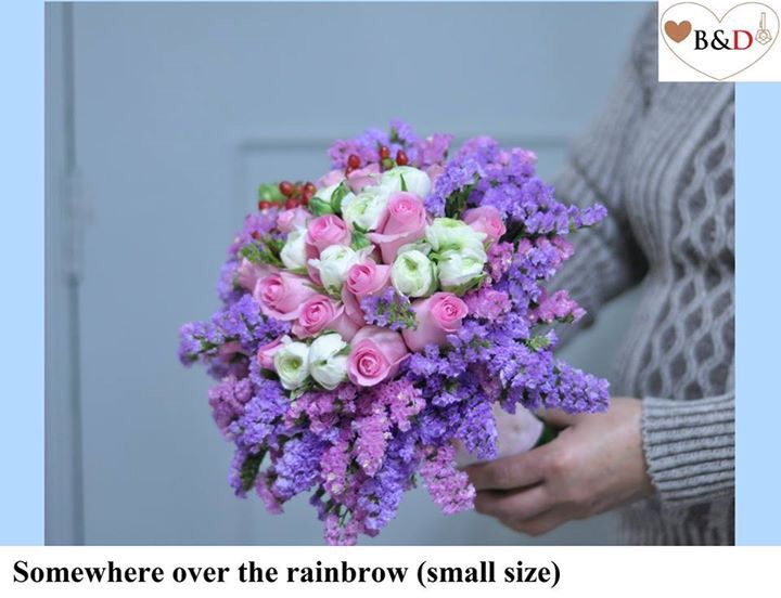 Fresh Flower Bouquet - Somewhere over the rainbow