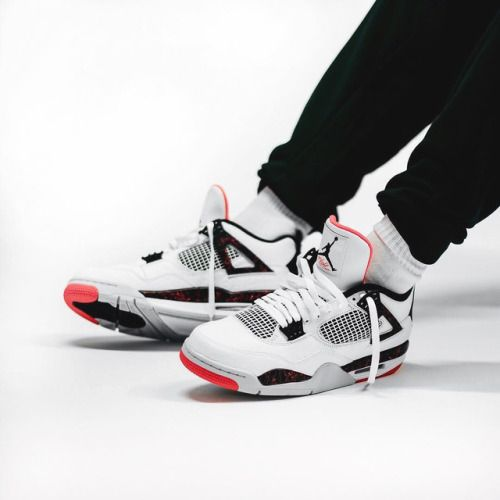 7fae6a7ce7f Nike Air Jordan 4 - White/Light Crimson - 2019... | Sneakers in 2019 ...