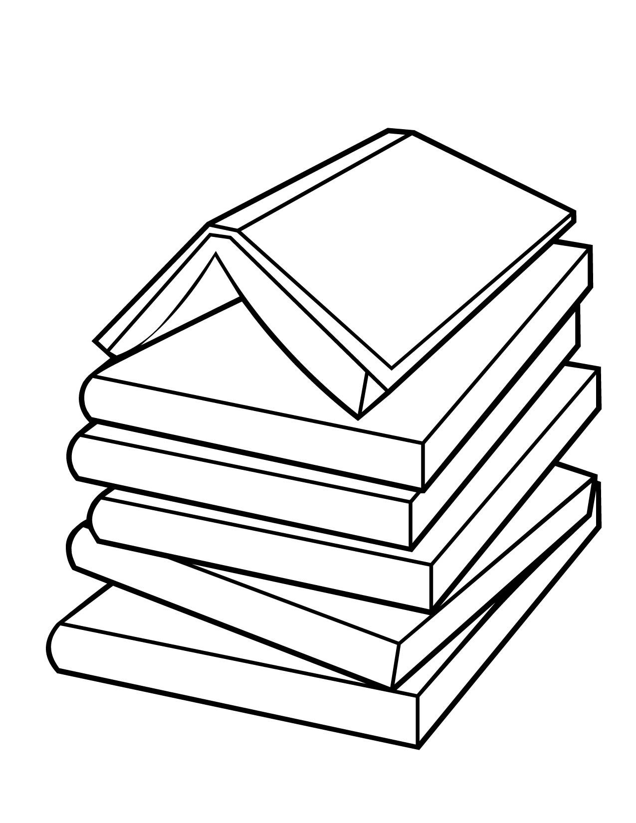 books coloring page - Book Coloring Pages