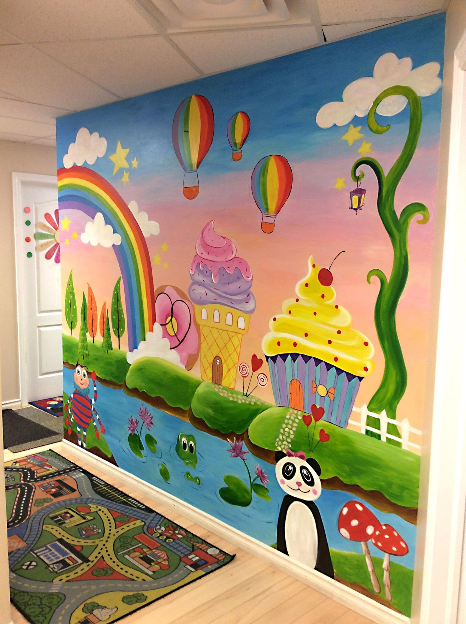 candy land wall murals Colour Inspireds ideas for wall murals