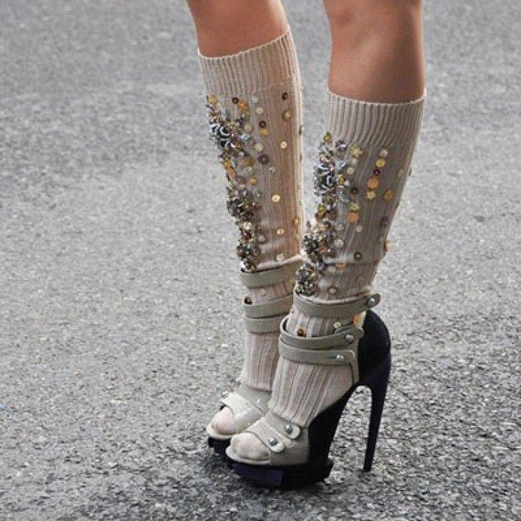 Miu Miu Miu socks Over the knee boots ng24262E