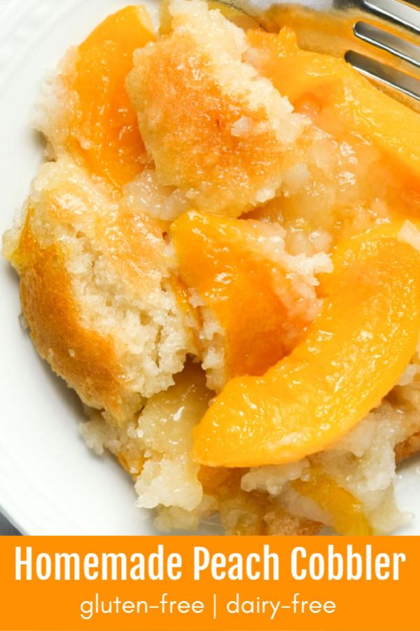 How To Make Gluten-Free Peach Cobbler - MamaShire