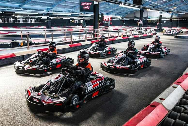 50 laps of indoor go karting for 2 choice of 10