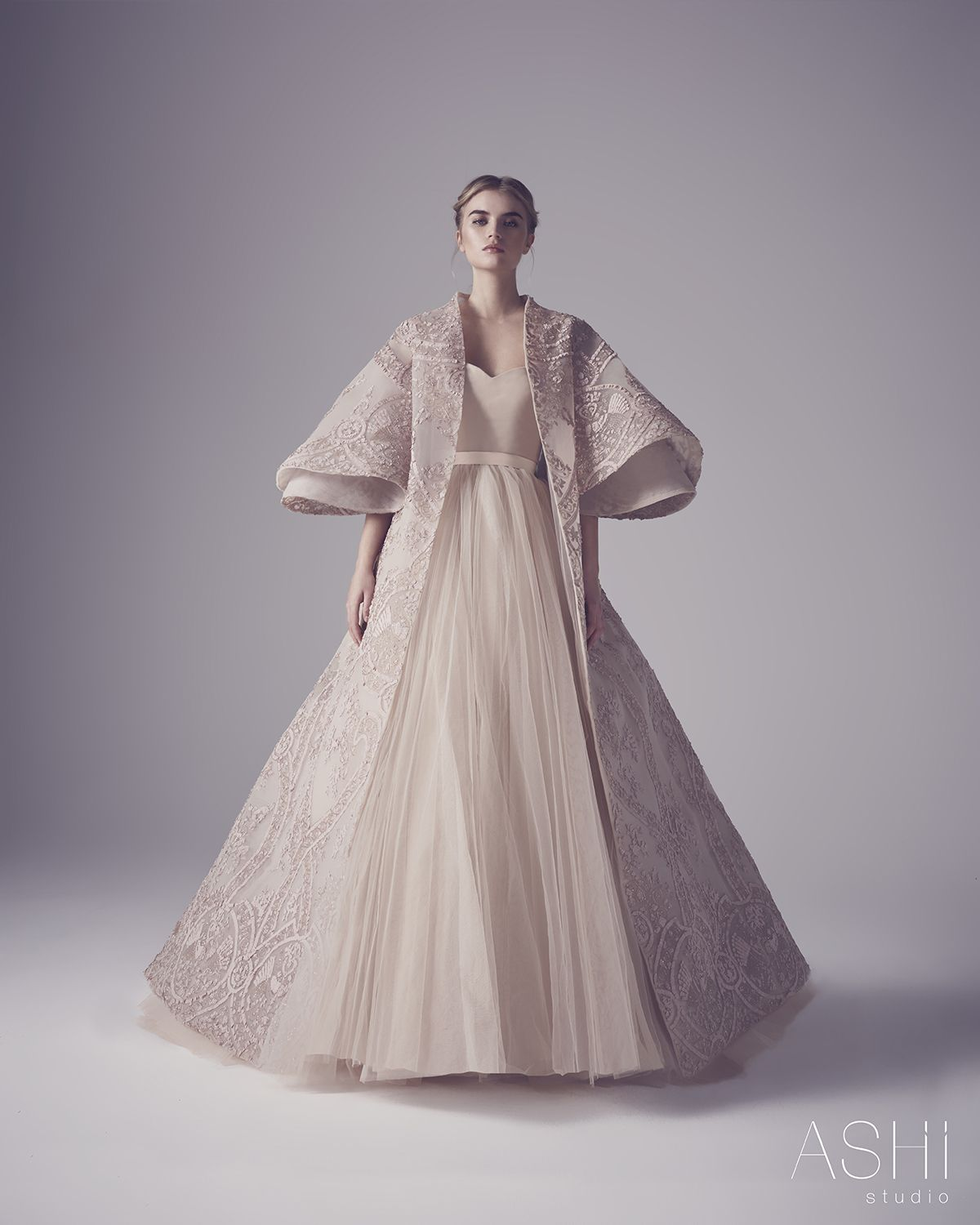 ashi weddnig dress, looks almost regal with the gown.