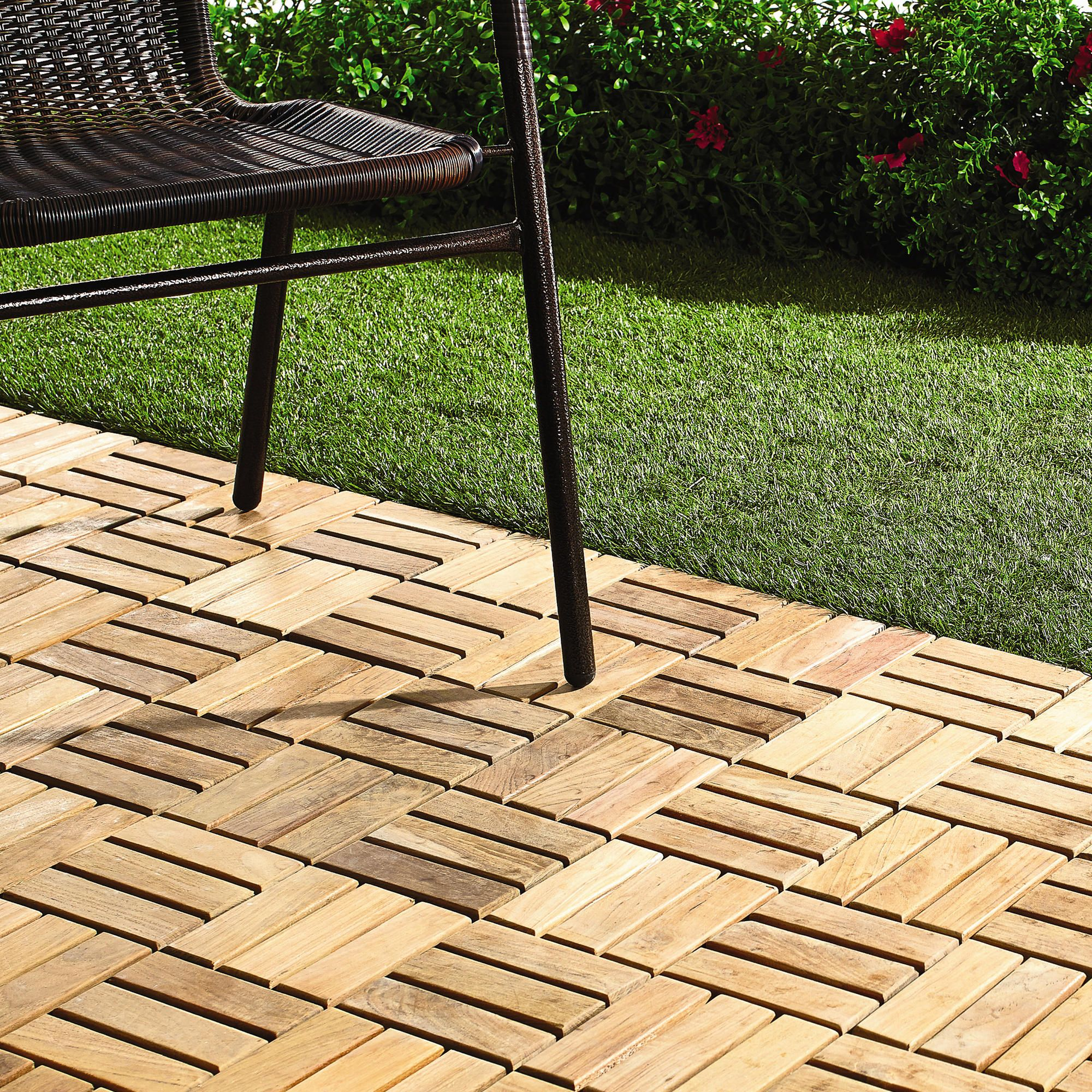 12 X Teak Patio Flooring Tiles 10