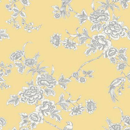 Graham Brown Wild Flower Soft Yellow Wallpaper