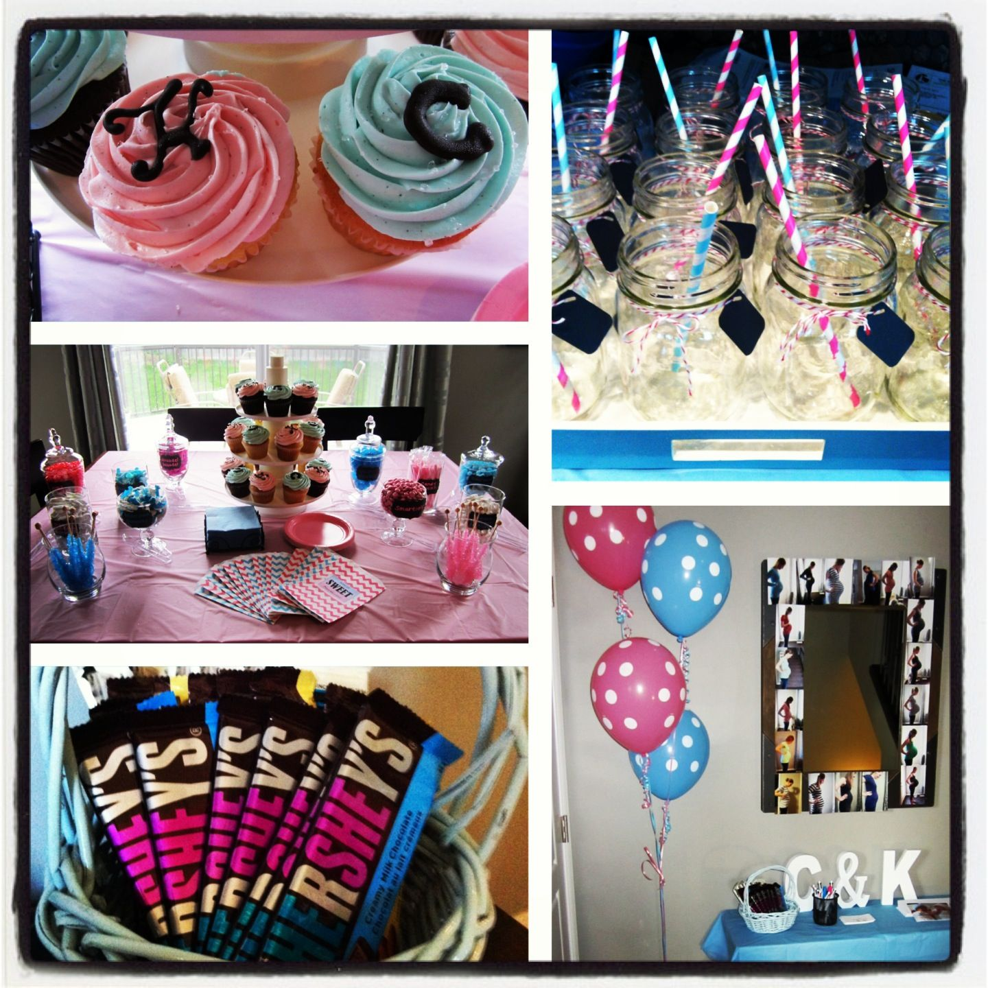 Twin Baby Shower Theme Was Pink And Blue For A Girl And A Boy