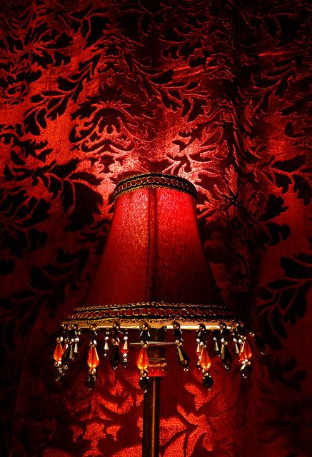 Sexy Red Wallpaper On One Wall Of The Bedroom Sets The