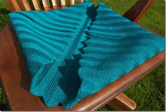 Machine Knit Racked Full Fishermans Zig Zag Baby Blanket Knitting
