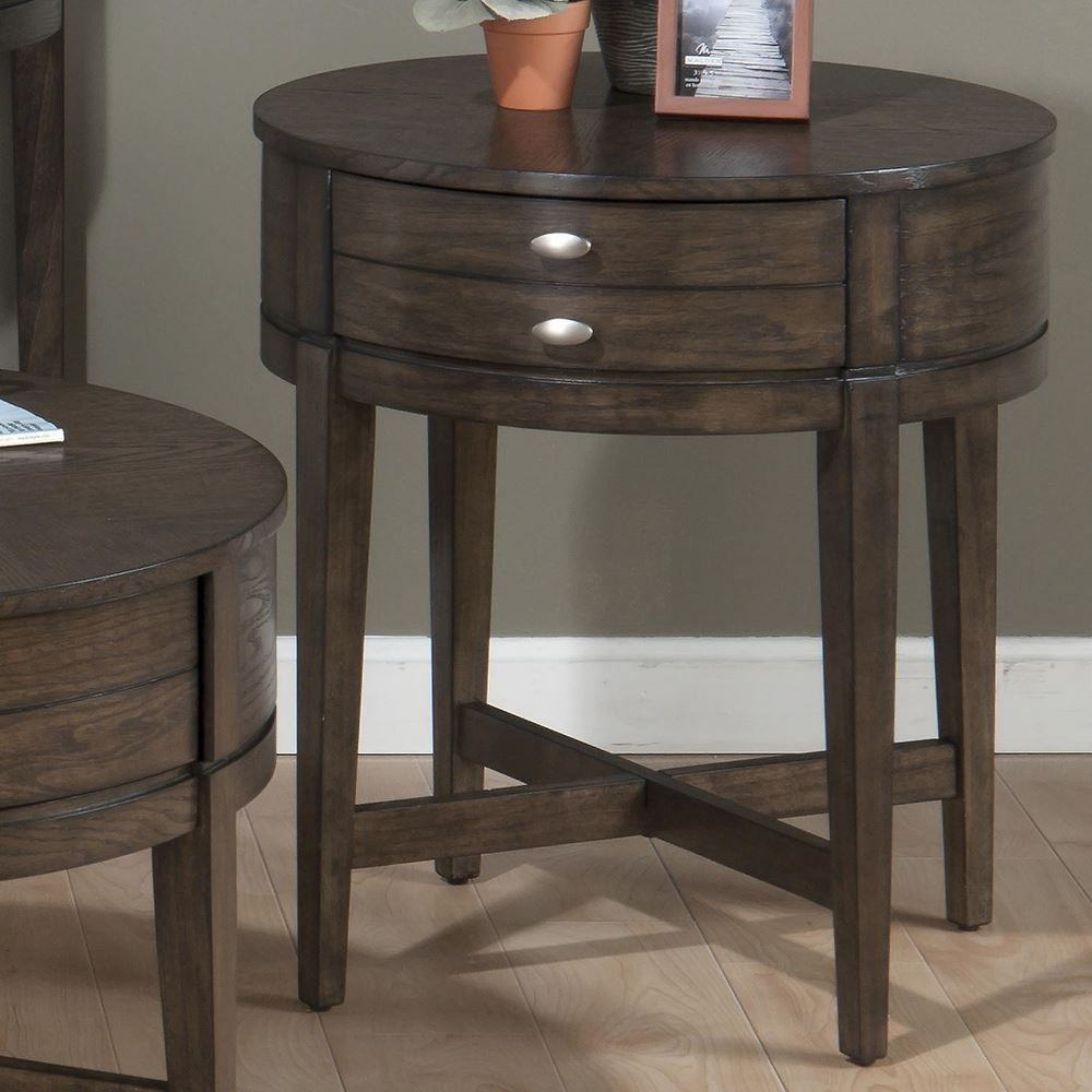 Antique Round End Table With Drawer | http://argharts.com ...