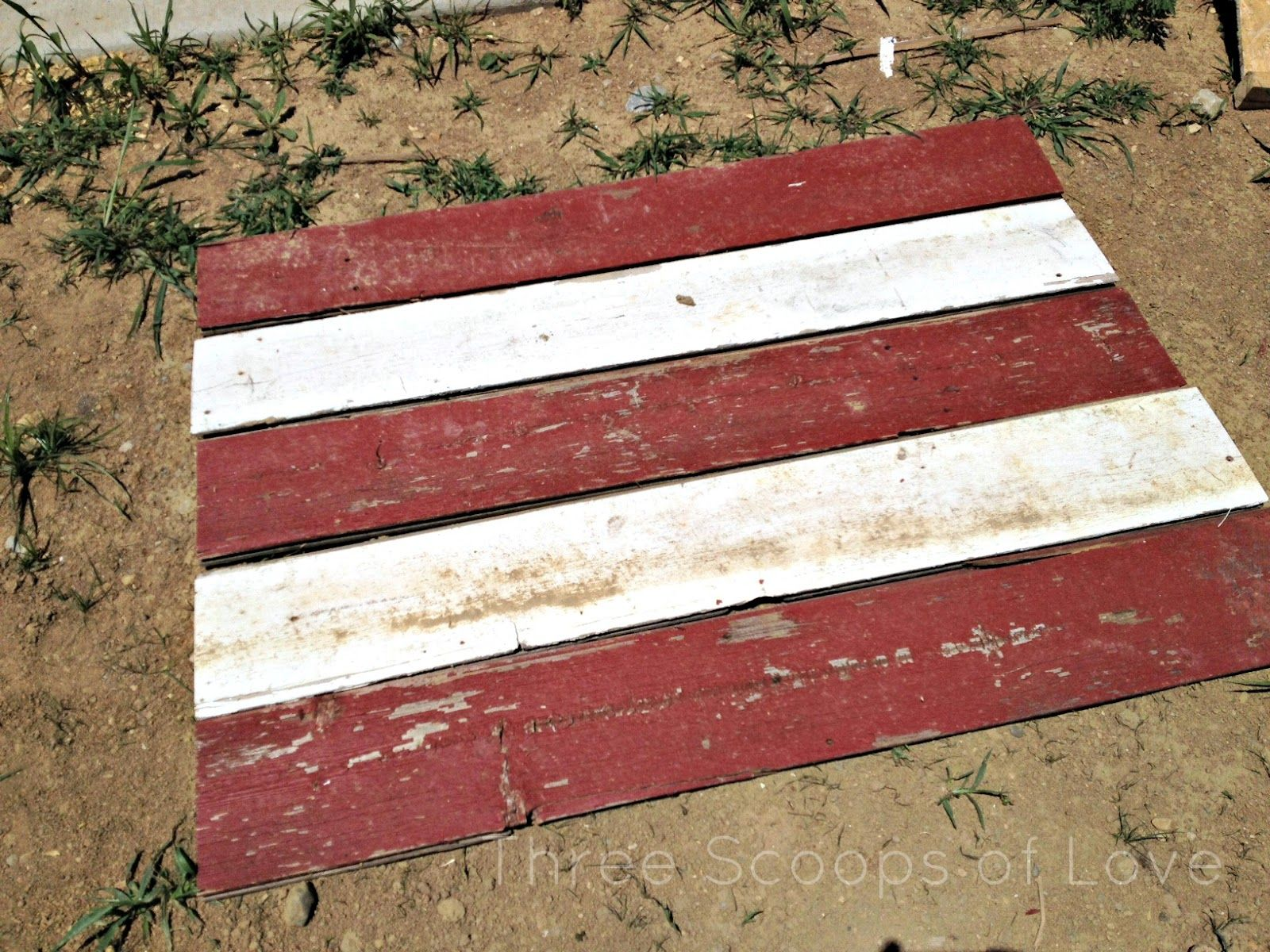 Three Scoops of Love: Barnwood American Flag