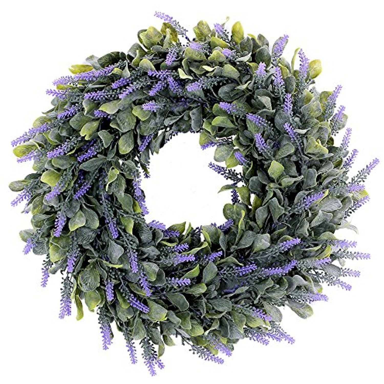 20 Artificial Lavender Wreaths Outdoor Uv Resistant Flowers