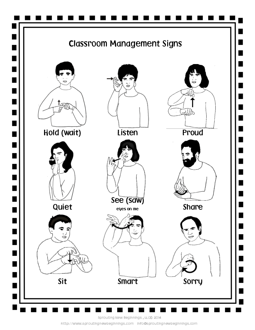 picture of american sign language asl signs for