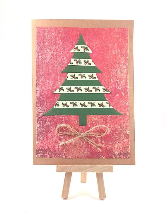Christmas tree card handmade christmas card christmas rustic christmas tree card handmade christmas card christmas rustic winter greeting card holiday cards blank greeting card with envelope catleaf paper reheart Images