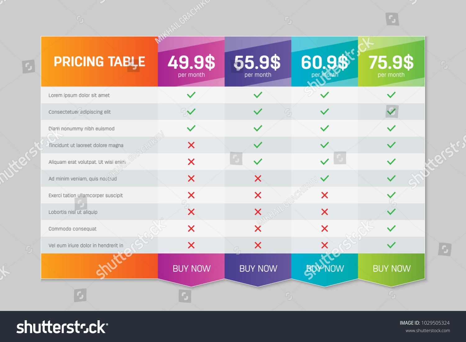 Creative Vector Illustration Of Business Plans Web Comparison
